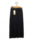 Curensology(カレンソロジー)の古着「コットンリブタイトスカート」|ブラック