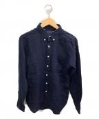 SONTAKU(ソンタク)の古着「リネンボタンダウンシャツ」 ネイビー