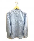 SONTAKU(ソンタク)の古着「リネンボタンダウンシャツ」 サックスブルー