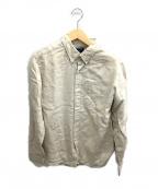 SONTAKU(ソンタク)の古着「リネンボタンダウンシャツ」 ベージュ