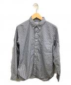 SONTAKU(ソンタク)の古着「ボタンダウンシャツ」 ホワイト×ネイビー
