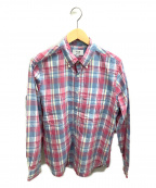 SONTAKU(ソンタク)の古着「ボタンダウンシャツ」 ピンク×ブルーグレー