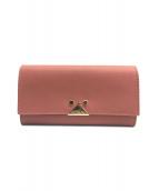 EMPORIO ARMANI(エンポリオアルマーニ)の古着「長財布」|ピンク