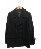 ()の古着「メルトンPコート」 ブラック