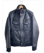 AVIREX(アビレックス)の古着「レザージャケット」|ブラック