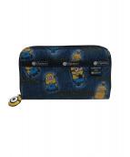 LeSportsac(レスポートサック)の古着「長財布」|ブルー×イエロー