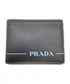 PRADA(プラダ)の古着「2つ折り財布」|ブラック×ブルー