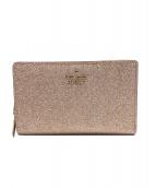 Kate Spade(ケイトスペード)の古着「2つ折り財布」|ゴールド