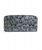 cocco fiore(コッコフィオーレ)の古着「長財布」|ブラック×シルバー