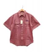 SUGAR CANE(シュガーケーン)の古着「ワークシャツ」 レッド×ホワイト