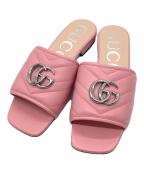 GUCCI(グッチ)の古着「GGマーモントスライドサンダル」 ピンク