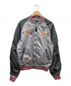 ALPHA()の古着「MA-1ジャケット」|グレー