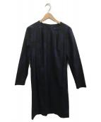 marimekko(マリメッコ)の古着「サックワンピース」 ブラック×ネイビー