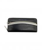 Marc by Marc Jacobs(マークバイマークジェイコブス)の古着「ラウンドファスナー長財布」|ブラック