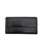 LOUIS VUITTON(ルイ ヴィトン)の古着「長財布」|ブラック
