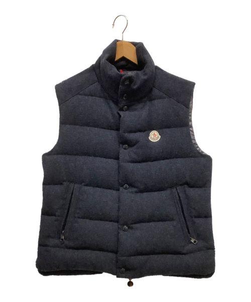 MONCLER(モンクレール)MONCLER (モンクレール) ダウンベスト ネイビー サイズ:1の古着・服飾アイテム