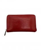 LOUIS VUITTON(ルイ ヴィトン)の古着「ラウンドファスナー財布」|レッド