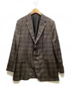 ERMENEGILDO ZEGNA(エルメネジルド・ゼニア)の古着「2Bジャケット」|ブラウン
