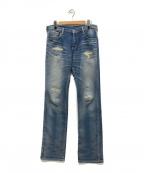 R.H.Vintage(ロンハーマン・ヴィンテージ)の古着「ダメージ加工ジョグジーンズ」 インディゴ