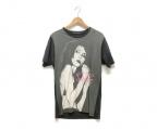 Thee Hysteric XXX(ジィーヒステリックトリプルエックス)の古着「Tシャツ」 グレー×ブラック