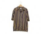 LIDnM(リドム)の古着「オープンカラーシャツ」|ネイビー×ベージュ