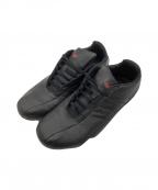 adidas×PORSCHE DESIGN(アディダス×ポルシェデザイン)の古着「レザースニーカー」|ブラック