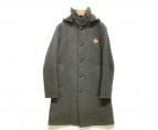 ()の古着「ウールモッサ丸襟コート」|グレー