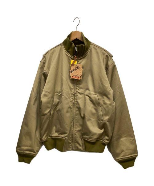 HOUSTON(ヒューストン)HOUSTON (ヒューストン) タンカースジャケット カーキ サイズ:40 未使用品の古着・服飾アイテム