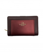 COACH(コーチ)の古着「2つ折り財布」|ボルドー