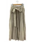 beautiful people(ビューティフルピープル)の古着「タイプライタースカート」|ベージュ