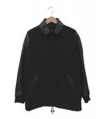 LAD MUSICIAN(ラッドミュージシャン)の古着「袖レザー切替スタジャン」|ブラック