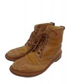 Trickers(トリッカーズ)の古着「2トーンブローグブーツ」|ブラウン