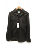 EMMETI(エンメティ)の古着「ベジタブルタンニングレザーシャツジャケット」 ブラウン