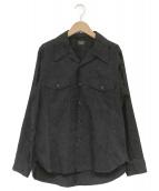 ATLAST & CO(アットラスト)の古着「オープンカラーワークシャツ」|ブラック