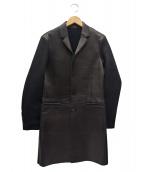 NEIL BARRETT(ニールバレット)の古着「レザーコート」|ブラック