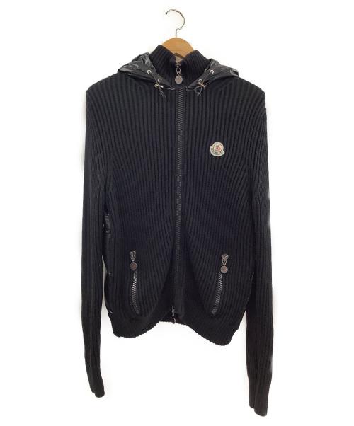 MONCLER(モンクレール)MONCLER (モンクレール) リブニット切替ダウンジャケット ブラック サイズ:Mの古着・服飾アイテム