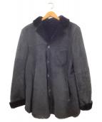 EMMETI(エンメティ)の古着「ムートンコート」|ブラック