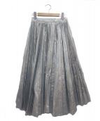 IRENE(アイレネ)の古着「プリーツスカート」|シルバー