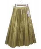 IRENE(アイレネ)の古着「プリーツスカート」|ゴールド