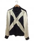 ato(アトウ)の古着「リバーシブルMA-1ボンバージャケット」 ブラック×ホワイト