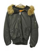 ALPHA(アルファ)の古着「フード付フライトジャケット」|ブラック