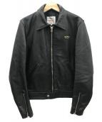Lewis Leathers(ルイスレザーズ)の古着「レザーシングルジャケット」|ブラック