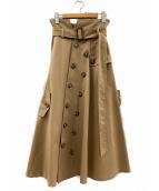 AMERI(アメリヴィンテージ)の古着「トレンチライクスカート」|ベージュ