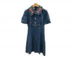 GUCCI(グッチ)の古着「刺繍デニムワンピース」|インディゴ