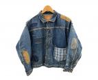 WAREHOUSE(ウェアハウス)の古着「リメイクパッチワークデニムジャケット」|インディゴ