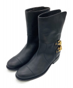 GIUSEPPE ZANOTTI(ジュゼッペ ザノッティ)の古着「ブーツ」|ブラック