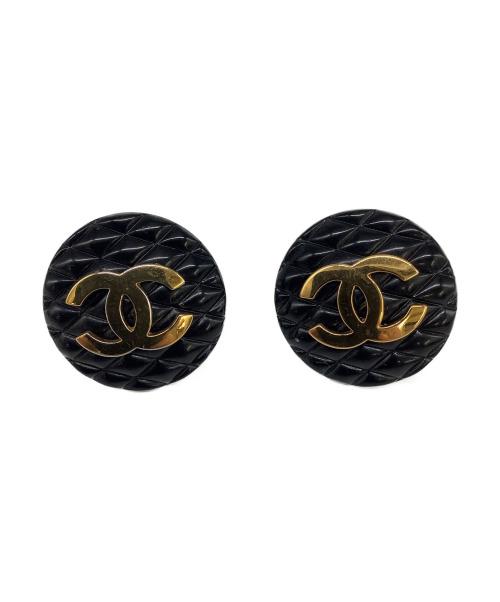 CHANEL(シャネル)CHANEL (シャネル) イヤリング ブラック 【OLD】の古着・服飾アイテム
