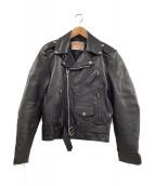 EXCELLED(エクセル)の古着「[古着]ヴィンテージダブルライダースジャケット」|ブラック