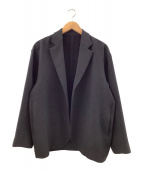 UNITED ARROWS & SONS(ユナイテッドアローズアンドサンズ)の古着「PE BUTTONLES JACKET」 ブラック