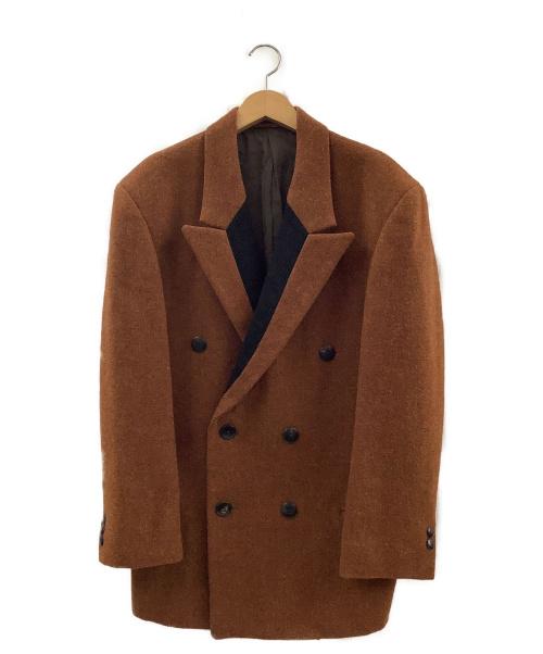 YohjiYamamoto pour homme(ヨウジヤマモトプールオム)YohjiYamamoto pour homme (ヨウジヤマモトプールオム) ツイードダブルジャケット ブラウン サイズ:S 秋冬物 Harris Tweed (ハリスツイード)の古着・服飾アイテム